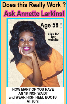 Annette Larkins proves you can look half your age at 60. No meat no cooked foods and no wrinkles at 60 Anette Larkins