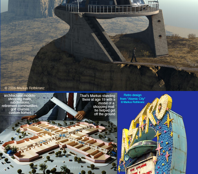 Markus design of mesa house for Atomic City. Wouldn't it be cool to have a house on top of a plateau in Monument Valley