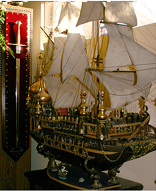 model pirate ship from To the Ends of Time