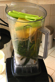 coconut vegetable fast easy blender drink