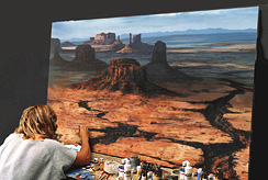 Markus painting matte painting by hand