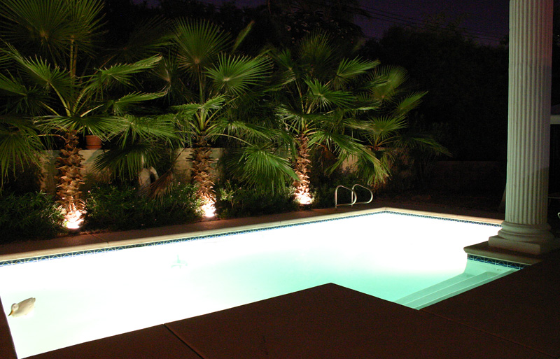 Even the night landscape lighting is powered by energy stored during the daytime from sunlight!